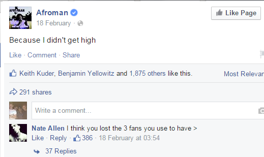 AFFYMAN DIDNT GET HIGH